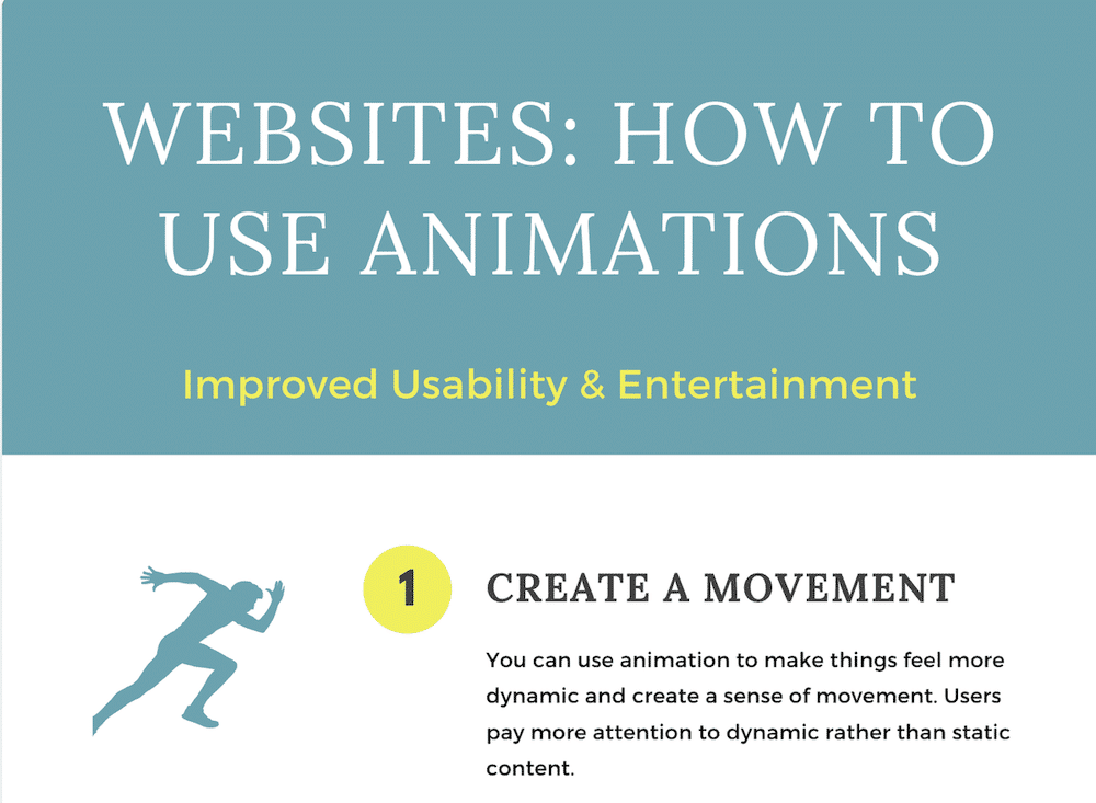 Infographics – How to Use Animations