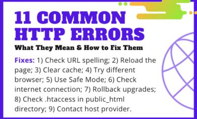 11 HTTP Error Codes
