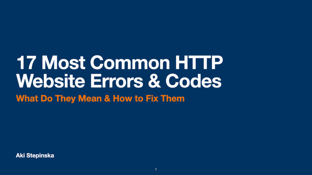 17 Most Common HTTP Website Errors optimized