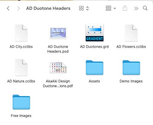 AD Duotone Headers Files