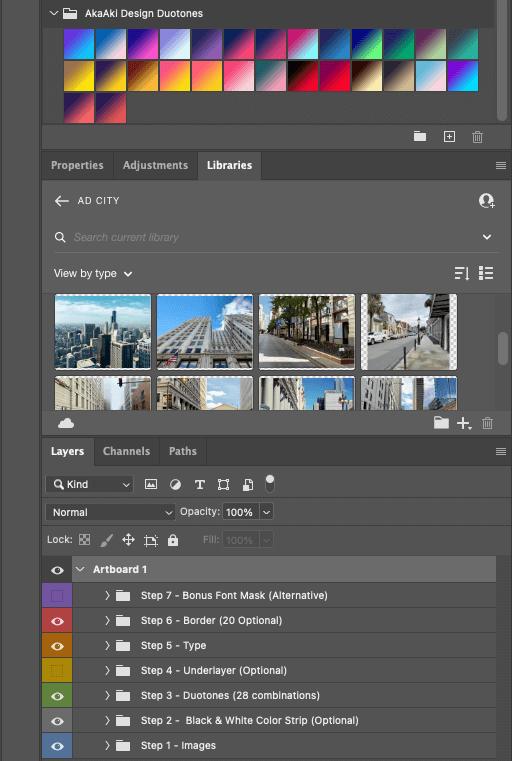 AD Duotone Headers Photoshop Set up