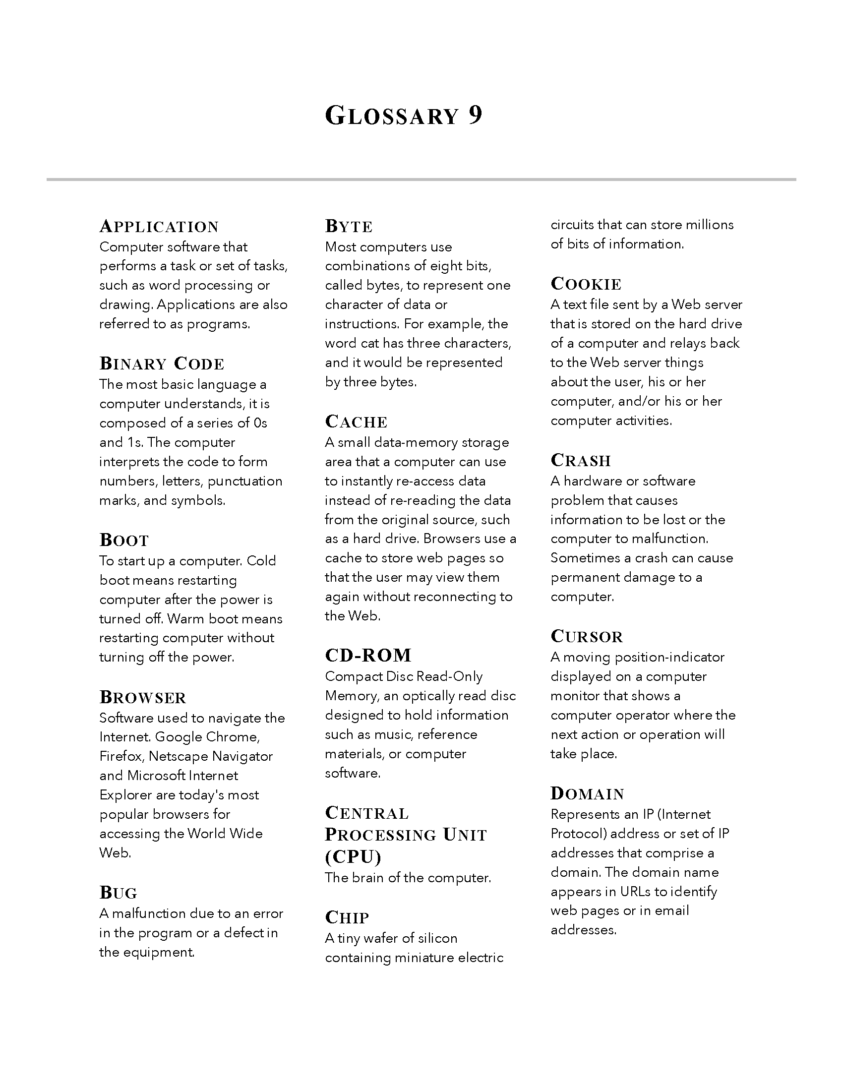 Glossary Template Page 09