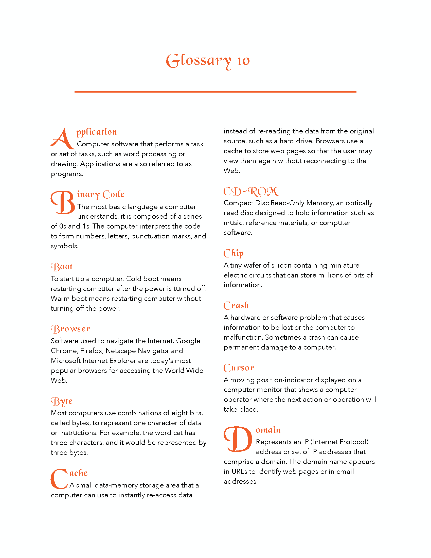 Glossary Template Page 10